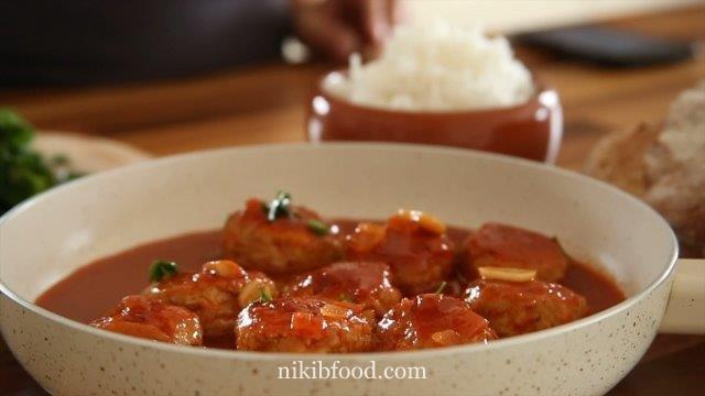 Chicken meatball sauce