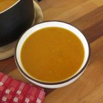 Sweet potato soup and carrots