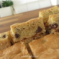 Dairy free chocolate chip bars