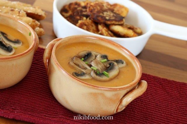 Carrot and mushroom soup