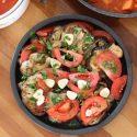 Marinated Eggplant and Tomato Salad