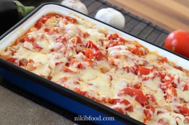 Eggplant and tomato lasagna