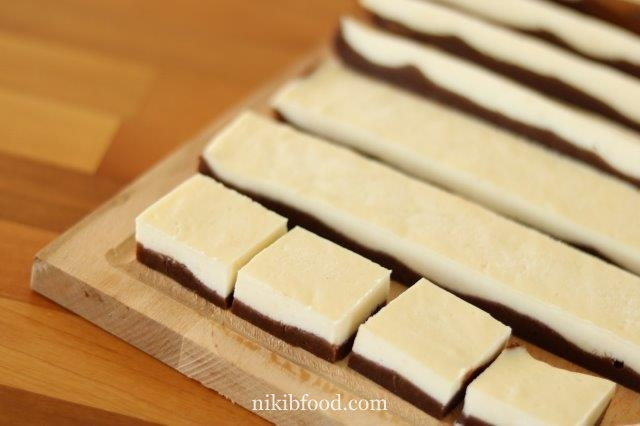 Chocolate brownies cheese