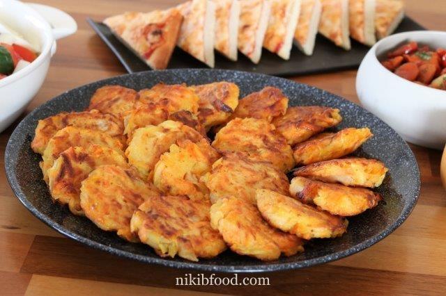 Classic potato and Sweet-Potato Latkes