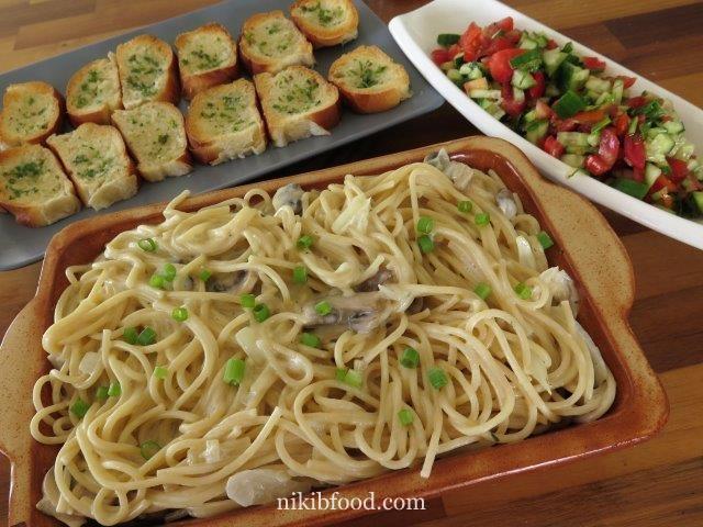 Pasta mushroom and cream