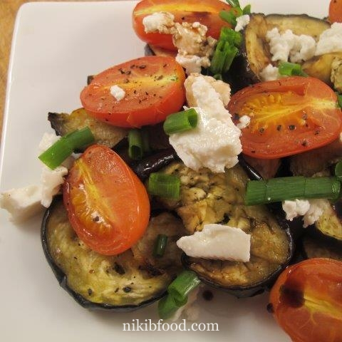 Grilled eggplant and balsamic vinegar