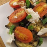 Grilled eggplant and balsamic vinegar