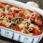 Cheesy baked eggplant so good!