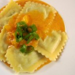 Spinach Ravioli in Rose Sauce