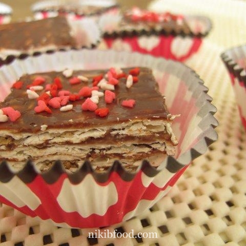 chocolate matzo cake / Photo : nikib