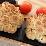 Whole baked cauliflower