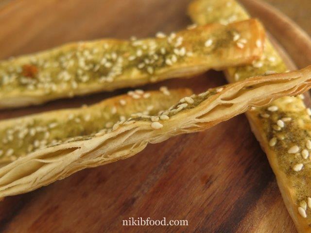 Zaatar sticks from malawach