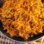 Red Rice with Noodles