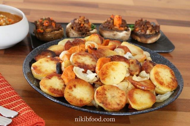 Oven Baked Potatoes and Sweet Potatoes