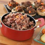 Full Red Rice with Peas and Carrots