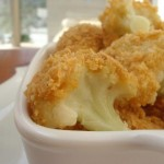 Baked cauliflower bechamel sauce