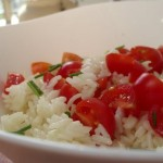 Hot Rice and Tomato Salad