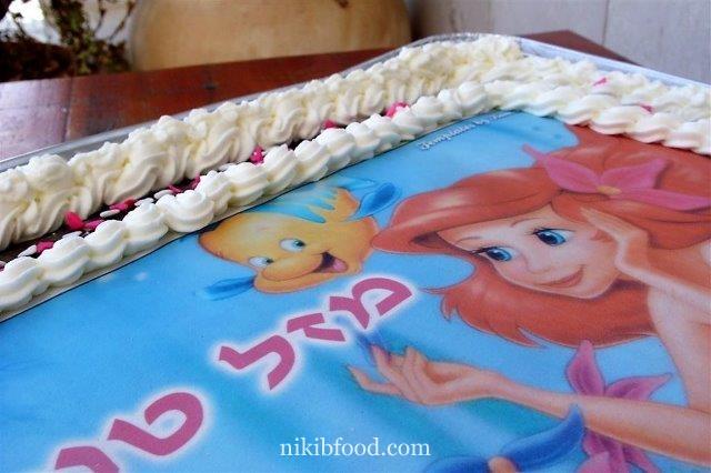 Large chocolate birthday cake