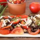 Marinated Eggplant and Tomato Salad