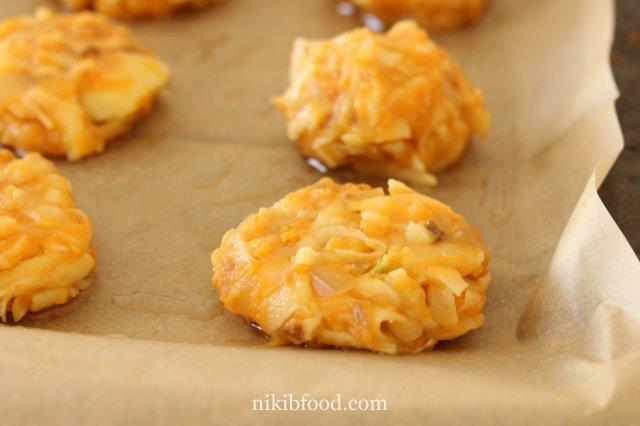 Baked Potato and Sweet Potato Latkes