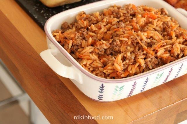 Israeli couscous bolognese