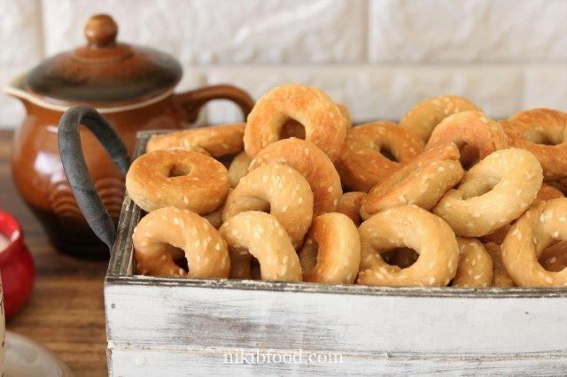 Homemade Sesame (Abadi) Cookies