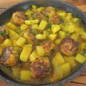 Chicken Meatballs In Yellow Sauce