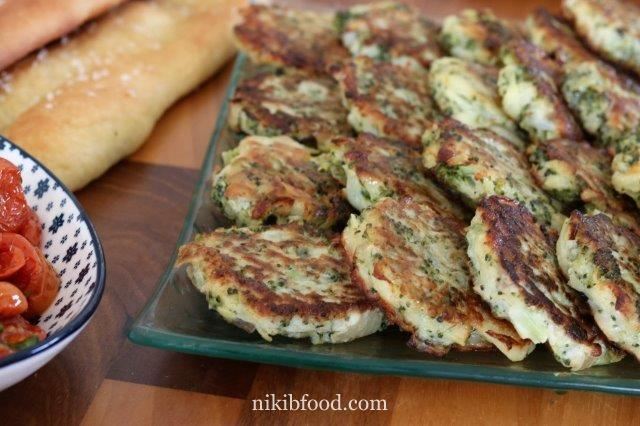 Broccoli and potato fritters