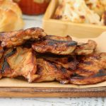Boneless skinless chicken thighs in honey bbq sauce