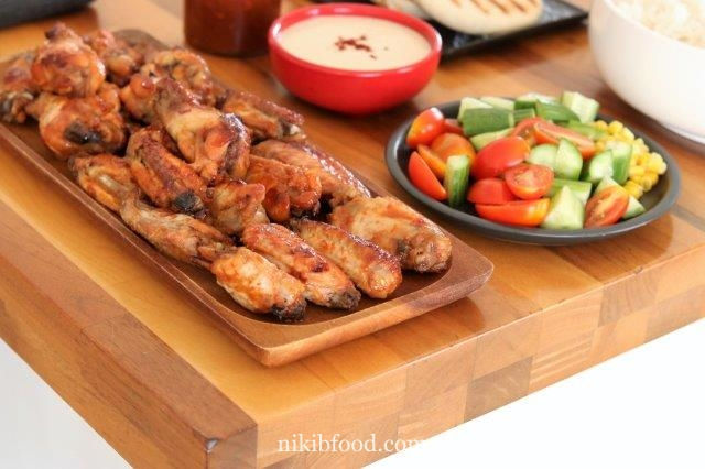 Wings in bbq sauce