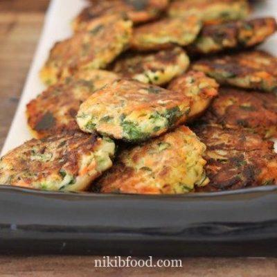 Fried veggie fritters