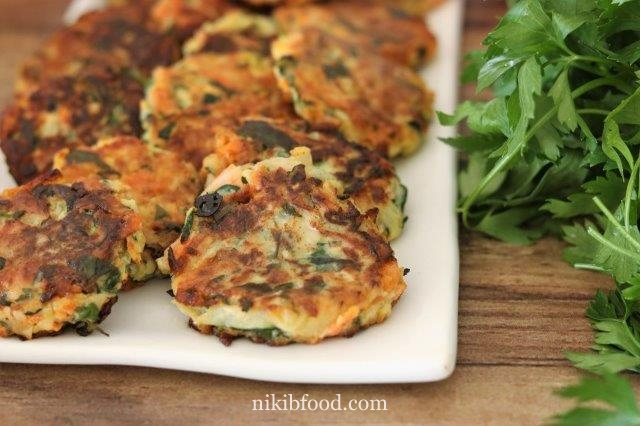 Fried veggie fritters