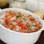 Chinese vegetable fried rice with egg