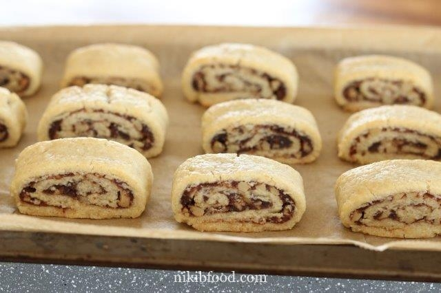 Maamoul Cookies Filled with Nuts and Dates
