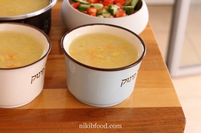 Quick corn soup