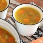 Quick green lentil soup