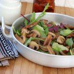 Mushroom on salad