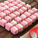 Colorful coconut squares