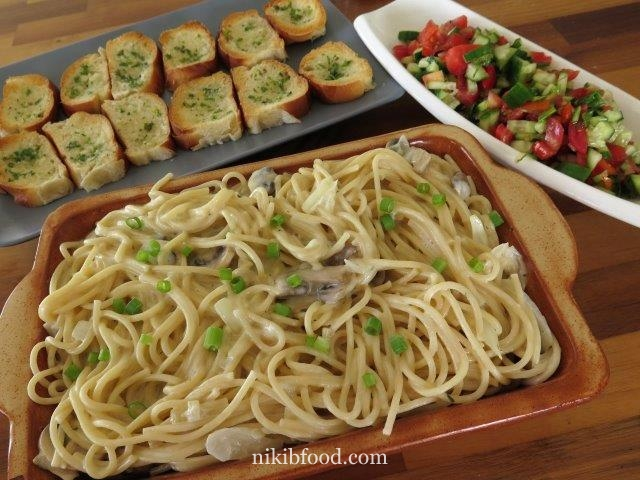 Pasta mushroom and cream