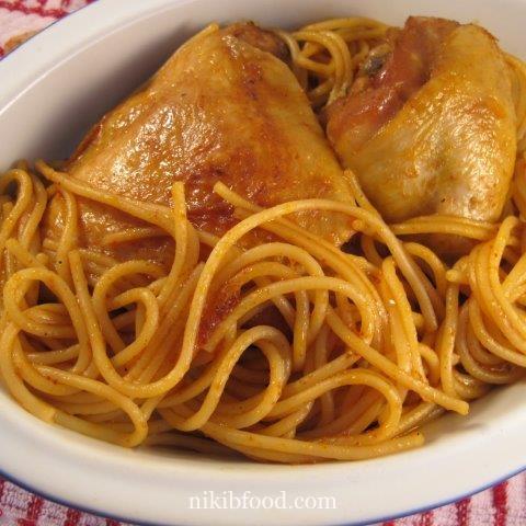 Chicken with spaghetti