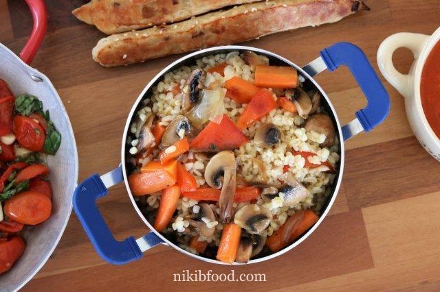 Bulgur Veggie Stir Fry Recipe