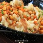 Baked cauliflower with chickpeas
