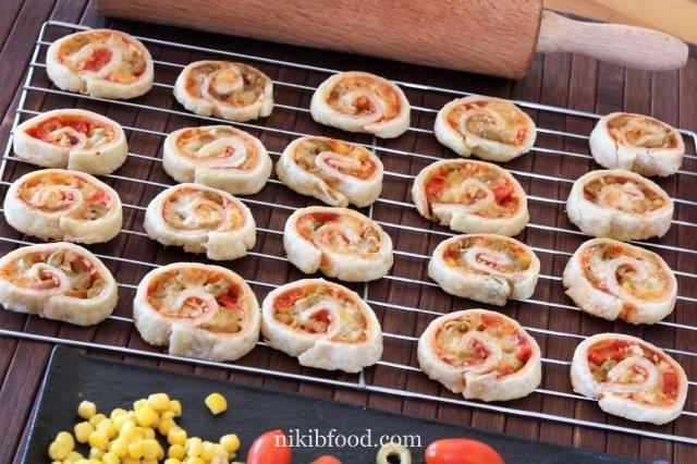 Yeast-Free pizza spirals