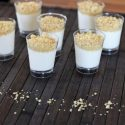 Mini cheese dessert in shot glasses