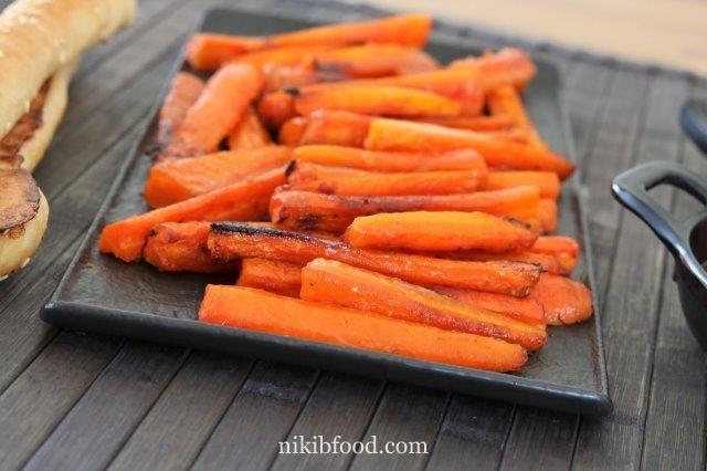Baked carrot sticks