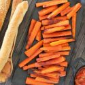 Baked carrot sticks