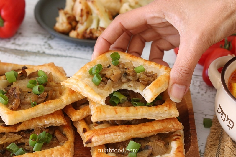 Savory Mushroom and Onion Pastry