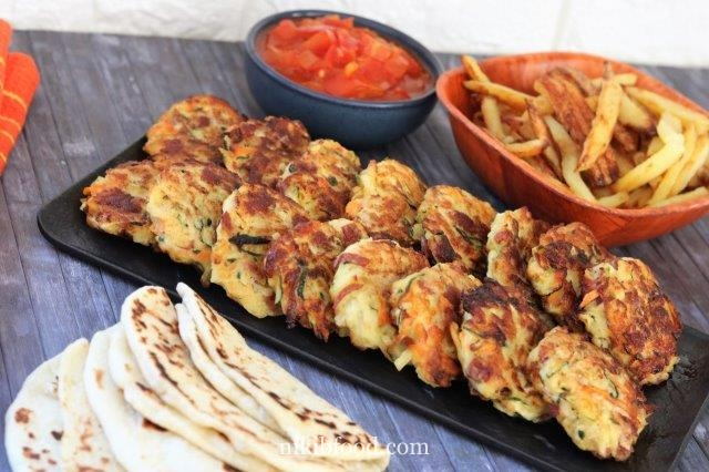 Quick and easy vegetable fritters