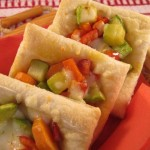 Puff pastry with vegetables