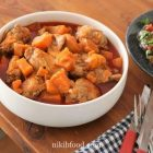 Stove top chicken with sweet potatoes